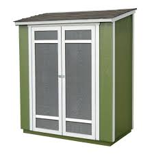 Home Depot Interior Slab Doors Handy Home Products Ocoee 6 Ft X 3 Ft Wood Storage Shed 19106 0