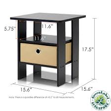 amazon com furinno 2 11157ex end table bedroom night stand