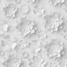 wedding flowers background 3d render digital illustration white paper flowers floral