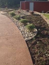 Backyard Flower Bed Designs Flower Bed Design With River Rock And Mulch Very Few Drought