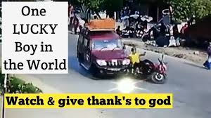 lucky people of the year 2017 winner lucky bike rider accident