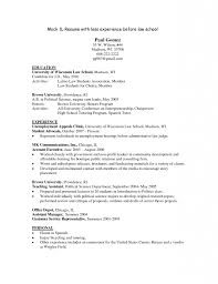 Resume With Community Service Marvelous Idea Law Student Resume 10 Sample Plastic Surgery