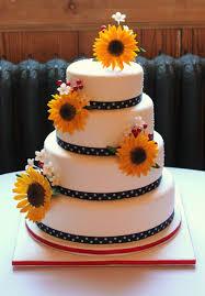 sunflower wedding cake sarah allbrook cakes