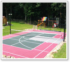 Backyard Play Systems by Maryland Backyard Playground Multi Game Modular Court Surface Goal