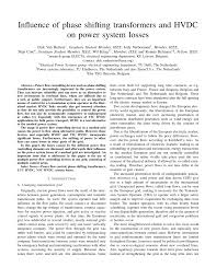 influence of phase shifting transformers and hvdc on power system