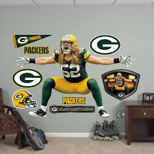 green bay packers clay matthews 10 piece wall decals fathead green bay packers clay matthews 10 piece wall decals