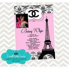 paris chanel quinceanera invites fashion couture photo invitations