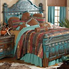 Southwestern Bedroom Furniture Southwestern Distressed Bed And Southwestern Bedroom Decor