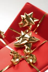 christmas bows for presents wrapped presents and bows royalty free stock photos image 7115368