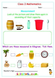 class 2 maths measurement activity worksheets