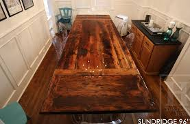 how to finish a table top with polyurethane reclaimed wood harvest table with high gloss finish blog