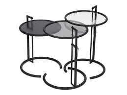Eileen Gray Side Table by Classicon Adjustable Table E 1027 Black Version By Eileen Gray