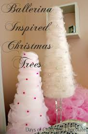 tulle and yarn christmas trees tutorial days of chalk and chocolate