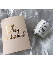 will you be my bridesmaid will you be my bridesmaid scented candle silk beau