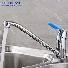 faucets kitchen ledeme kitchen sink faucet chrome plated single handle 2 holes