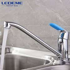 sink faucets kitchen ledeme kitchen sink faucet chrome plated single handle 2 holes hot