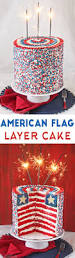 American Flag With 13 Stars In A Circle American Flag Layer Cake For The Fourth Of July Sugarhero