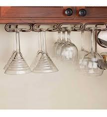 Under Cabinet Pot Rack by Under Cabinet Stemware Rack Large In Wine Glass Racks
