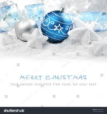 ornaments on snowcopy space your stock photo 156010985