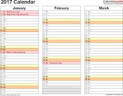 2017 calendar download 17 free printable excel templates xlsx