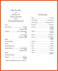 template for wedding programs wedding program template program format