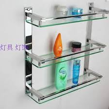 Glass Shelves For Bathrooms Creative Ikea Bathroom Shelving Glass Shelf 304 Stainless Steel