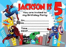 superhero birthday card ebay