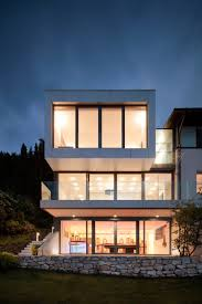 elegant austrian home blends lovely lake views with a minimalist view in gallery large glass windows used to offer lake views elegant austrian home blends lovely lake views with