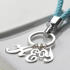 necklace key ring images Personalised sterling silver initial letter keyring by tales from jpg