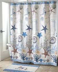 Tropical Beach Shower Curtains by Navy And White Shower Curtain Seashell Shower Curtain Tropical