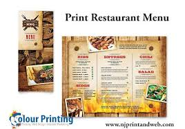 njprintandweb u2013 we are specialize in restaurant menu printing