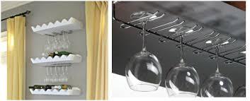 appendi bicchieri bar mini bar angolo di relax fai da te con porta bicchieri di design