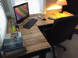 Homemade Wood Computer Desk by Diy Pallet L Shaped Computer Desk Pallet Furniture Plans