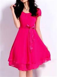 beyond pink pink georgette women u2013 dresses buy online fashion