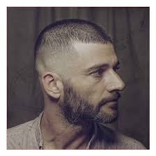 clipper cut hairstyle for senior men mens clipper haircut also buzz cut with skin fade and beard all