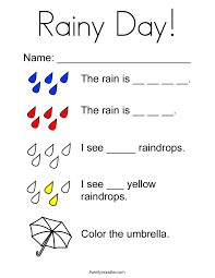 Rainy Day Coloring Page Twisty Noodle Rainy Day Coloring Pages