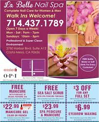 la belle nail spa u2013 grand opening and 3 free gift certificates
