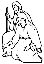mary joseph and jesus clipart clipartxtras