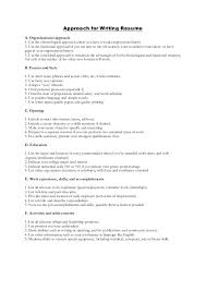 approach for writing resume with cover letter