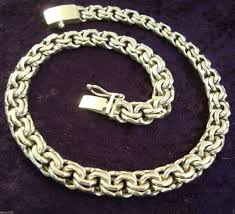 Taxco Mexico Map by Taxco Mexican Sterling Silver Men U0027s Chain Link Necklace Mexico Ebay
