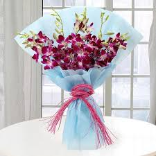 purple orchids purple orchids gift purple orchids bunch of 10 purple orchid