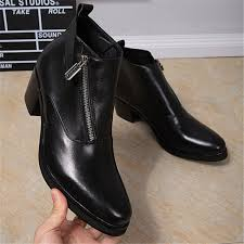 motorcycle booties med heel short motorcycle booties black real leather ankle boots