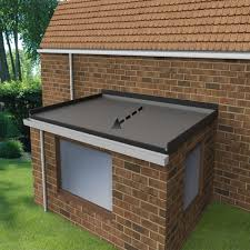 flat roof extension kit falls to the front