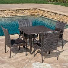 Outdoor Furniture Table by Four Person Patio Dining Sets You U0027ll Love Wayfair