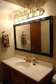 framed bathroom mirror ideas bathroom mirror with frame northlight co