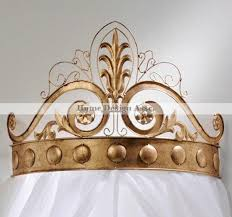 amazon com ornate gold scrollwork bed crown tester wrought iron