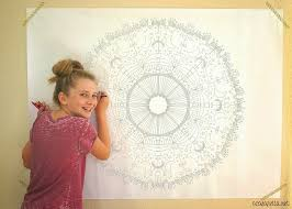 diy oversized coloring mural a casarella i decided on this cool mandala print from coloringcastle com