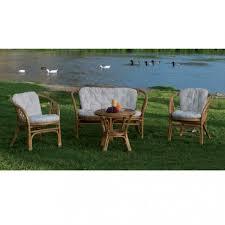 divanetto vimini set salotto da esterno in rattan finto vimini cuscini ecru bahama