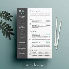 resume template 3pk cv template cover by theresumeboutique me