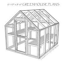 green house floor plans 6 10 x 8 0 greenhouse plans printed